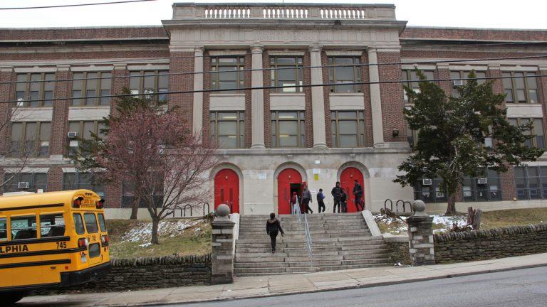 Students leave Roosevelt Elementary School