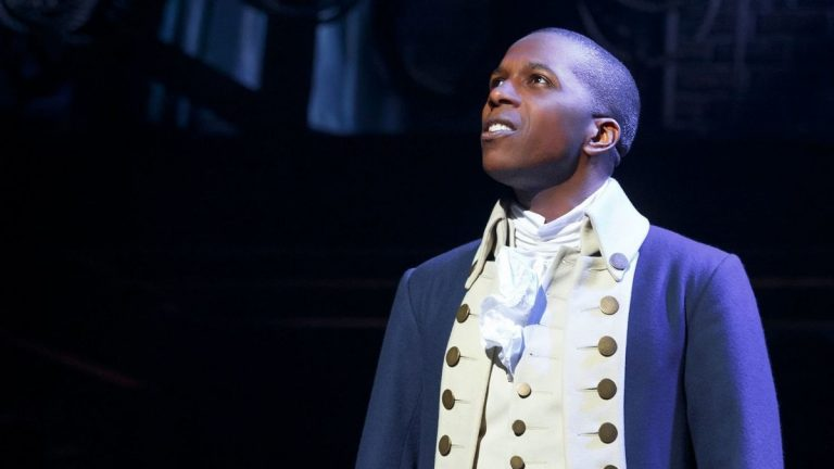 Leslie Odom Jr. as Aaron Burr in the Broadway production of 'Hamilton.' (Photo courtesy of Joan Marcus)