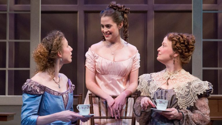 In the People's Light & Theatre production of 'Sense and Sensibility,' from left: Cassandra Bissell, Claire Inie-Richards and Susan McKey. (Photo courtesy of Mark Garvin)