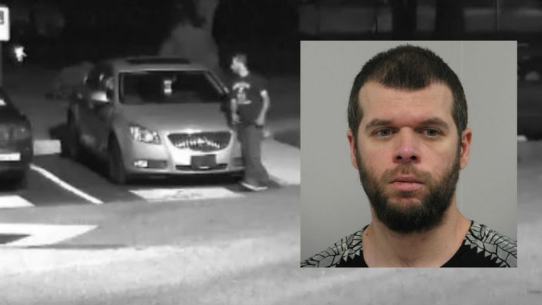 Joseph Rudge is wanted in connection with a pair of attempted abductions in Newark. Newark PD say he is the man seen in the surveillance video from Main Towers apartments. (photos courtesy Newark PD)