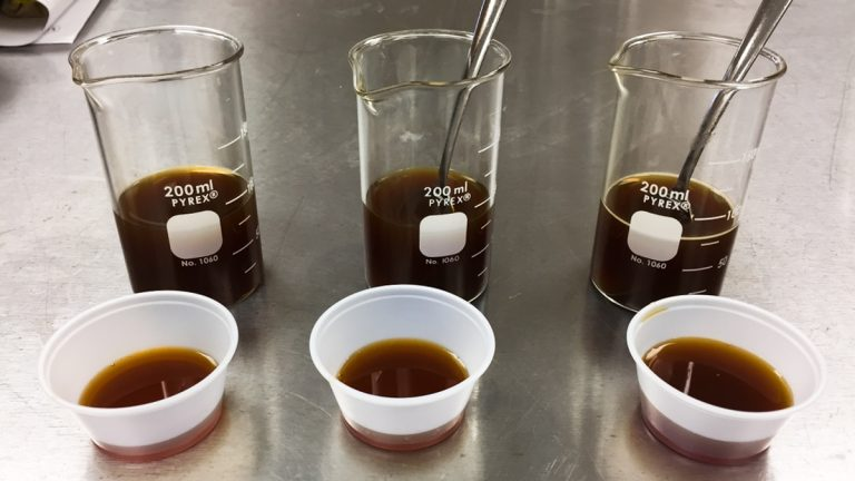 These are three different broths with different sodium levels. One is low sodium