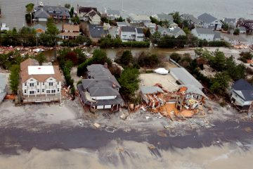 Superstorm Sandy swamped parts of Long Beach Island, as shown in this photo taken by the New Jersey Army National Guard.