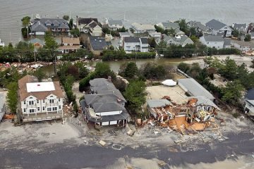 Sandy devastated Mantoloking, shown in this file photo, and has changed some attitudes about the Shore. / Photo by NJ National Guard, via Rutgers