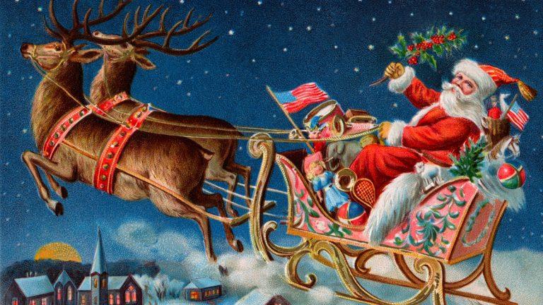 Christmas card, circa 1906. (Courtesy of <a href=