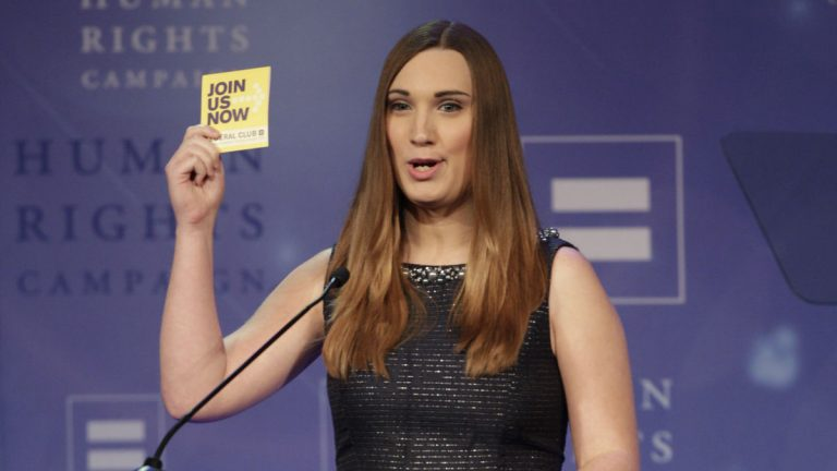 Sarah McBride of Wilmington will address the DNC in Philadelphia on Thursday night. (Photo by Wade Payne/Invision/AP)