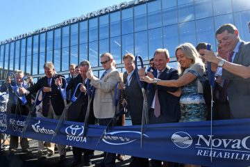 The ribbon-cutting for the new Philadelphia 76ers practice facility in Camden on September 23