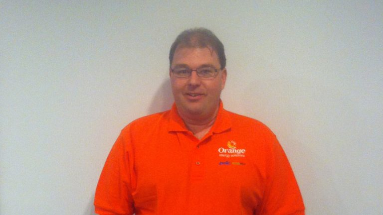 Scott Sidlow is Manager of Building Analysis at Orange Energy Solutions in Havertown, Pa.  (Shai Ben-Yaavov/WHYY)