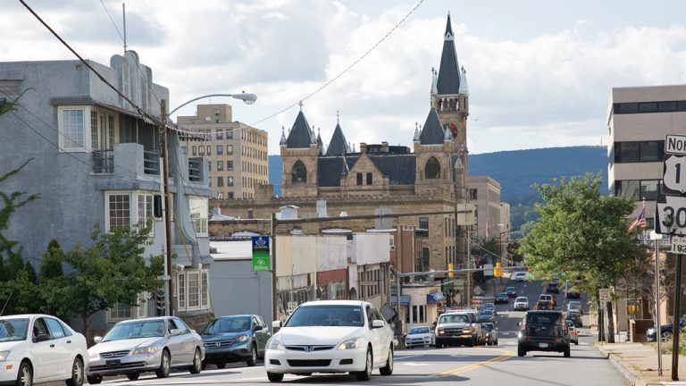 Scranton Mayor William Courtright is calling for the city's pension funds to be moved to a state management system, the Pennsylvania Municipal Retirement System. (Lindsay Lazarski/WHYY)