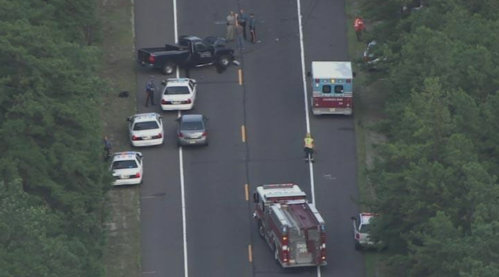 Scene of fatal accident on Route 72 in Woodland Township. (Photo: @NBCPhiladelphia via Twitter)
