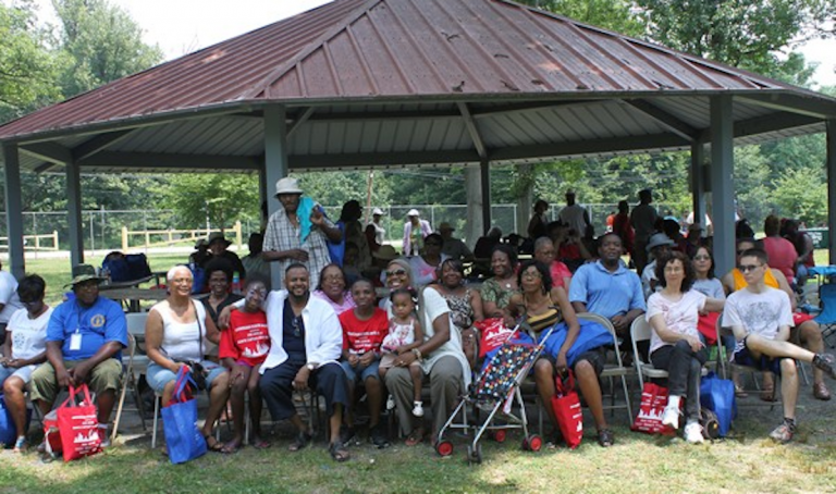 Last year's Block Captain Boot Camp was held at Belmont Grove in Fairmount Park. (Matthew Grady/for NewsWorks)
