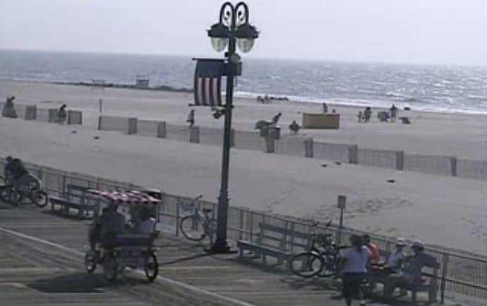 Ocean City at 9:40 a.m. today. (Image: TheSurfersView.com)