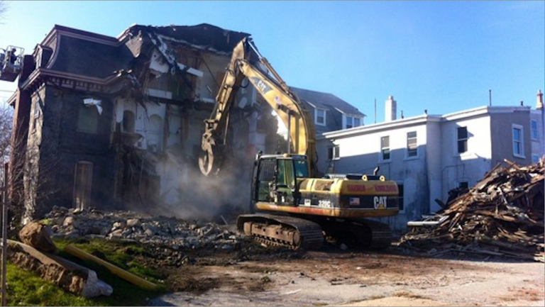December's demolition of the Bunting House spurred development tensions in Roxborough. (NewsWorks file art)