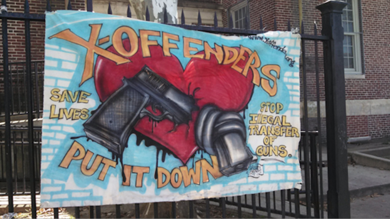 X-Offenders for Community Empowerment held its annual anti-gun rally Saturday in North Philadelphia. (Amanda Staller/for NewsWorks)