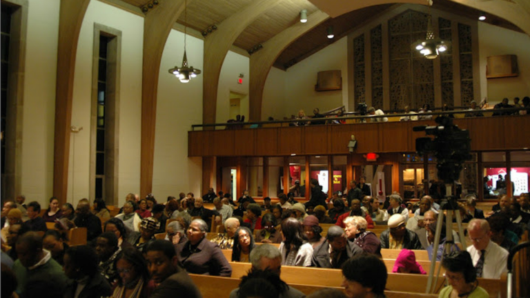 A look inside Grace Baptist Church, at which Rev. Dr. G. Daniel Jones was senior pastor for 31 years before his June retirement. (NewsWorks, file art)