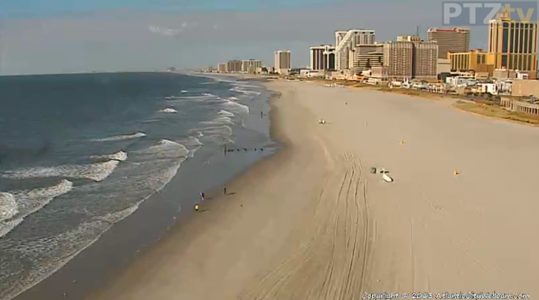 This morning in Atlantic City via AtlanticCityWebcam.com.