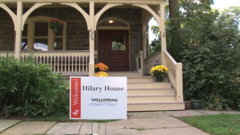Hilary House, where Wellspring will be housed, is located at 8020 St. Martins Lane in Chestnut Hill (Christine Mattson and Aaron Stevens/for NewsWorks)