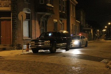 The suspect's SUV was found at the intersection of Germantown Ave. and Herman St. (Matthew Grady/for NewsWorks)