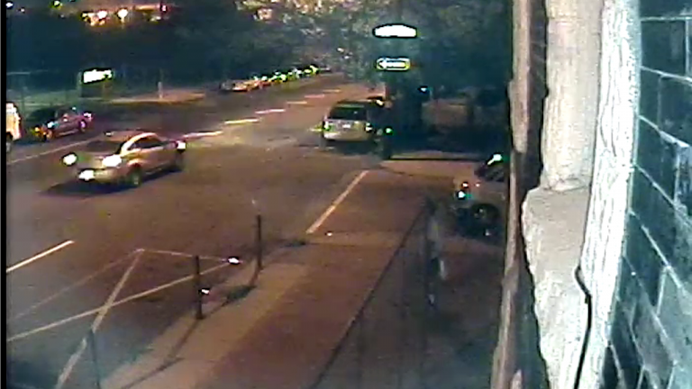 Surveillance footage of the vehicle believed to be involved in the hit-and-run of a 21-year-old woman on Friday. (Courtesy of PPD)
