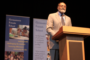 At Wednesday's Tate Lecture for Public Service, federal Judge Theodore McKee spoke about having respect for others. (Matthew Grady/for NewsWorks)