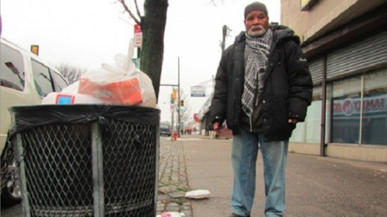 Omar Gray was a street-cleaning mainstay for the Germantown Special Services District until its funding dried up. He's hoping to return once the GSSD offers a broom. (Aaron Moselle/for NewsWorks)