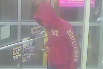 Surveillance footage of the attempted armed robber, 6:55 p.m. Oct. 17. (Courtesy of PPD)