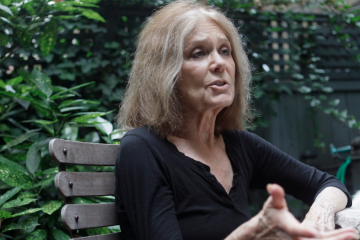 Gloria Steinem, shown here speaking with the Associated Press in 2011, will be honored in Roxborough this weekend. (AP Photo/Mary Altaffer)