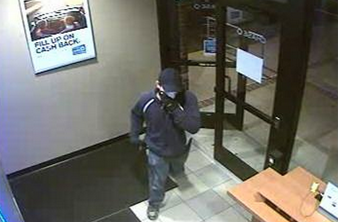 The man pictured above is wanted for an armed robbery at a Chase Bank branch in Toms River Tuesday afternoon, police said.