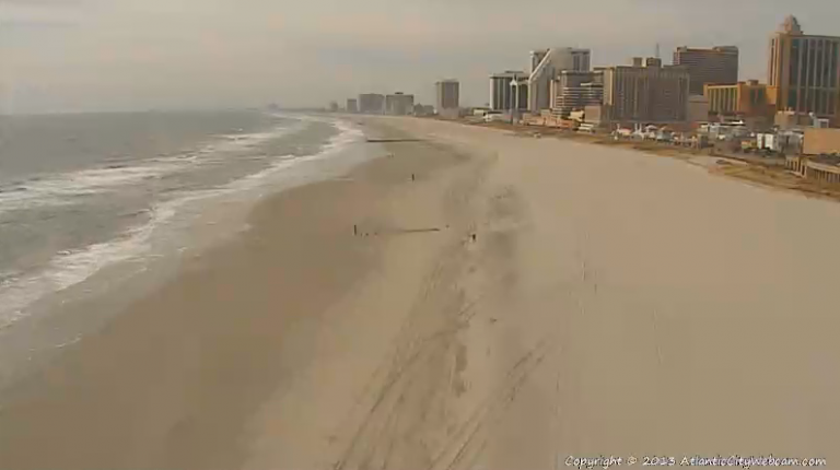 Atlantic City shortly after 11:00 a.m. Friday. (Image: AtlanticCityWebcam.com)