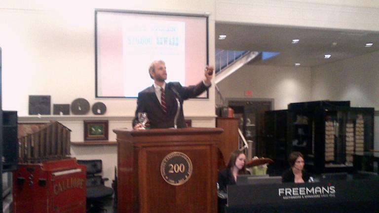 Freeman's sold the Charley Ross ransom letters on Thursday for $20,000. (Carrie Hagen/for NewsWorks)