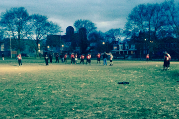 The Imhotep Panthers at practice a week before Thanksgiving. (Brian Hickey/WHYY)