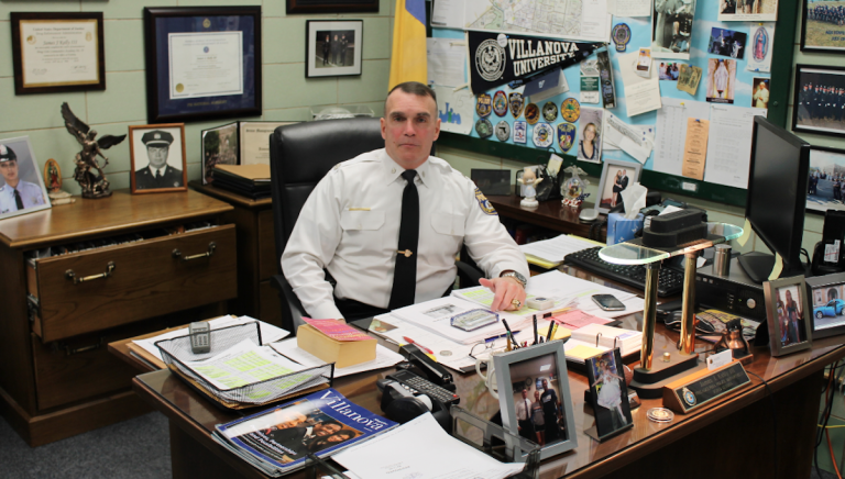Inspector James Kelly, commanding officer of the Philadelphia Police Department's Northwest Division. (Matthew Grady/for NewsWorks)