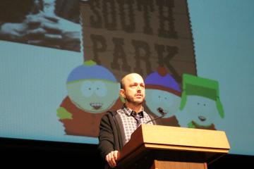 Dan Sterling spoke at Germantown Friends School last week as the 2013 Alumni Speaker. (Matt Grady/for NewsWorks)