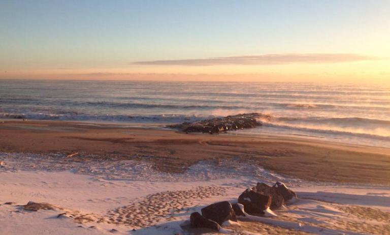 Long Branch Saturday morning. (Photo: Cameron Leonard via Jersey Shore Hurricane News)