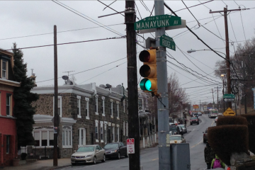 The Philadelphia Water Department will replace water mains and fire hydrants along a half-mile of Ridge Avenue stretching from Shurs and Walnut lanes to Manayunk Avenue. (Brian Hickey/WHYY)