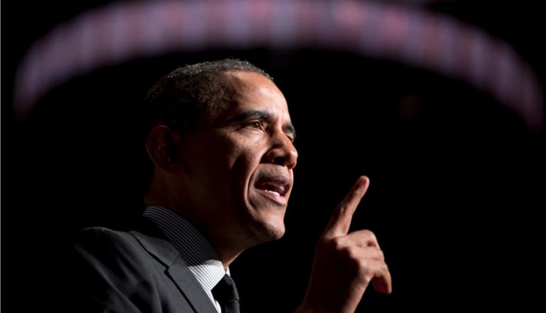 President Barack Obama speaks at Al Sharpton's National Action Network conference in New York on Friday. (AP Photo/Carolyn Kaster)