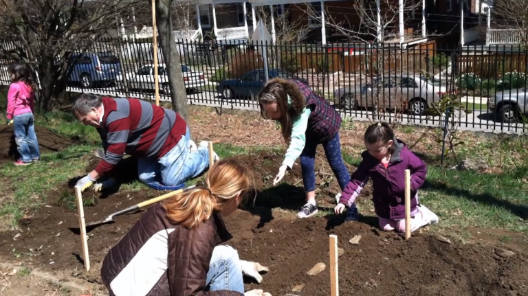 Part of the kindergarten center plan at Jenks in Chestnut Hill is to include a gardening area for students. (Courtesy of the Friends of J.S. Jenks)