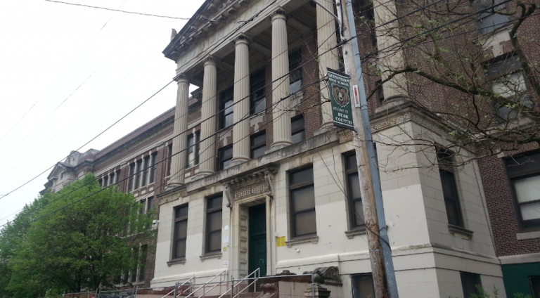 Germantown High School, as it looks today. (Aaron Moselle/WHYY)
