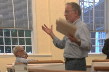 East Falls Community Council Zoning Chair Bill Epstein said plans to meet the desired 1:1 parking-to-apartment ratio have been nixed. (Marcus McCarthy/for NewsWorks)
