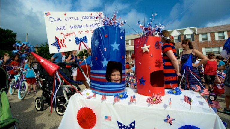Scenes from Chestnut Hill's Fourth of July celebration on 2013. (NewsWorks, file art)