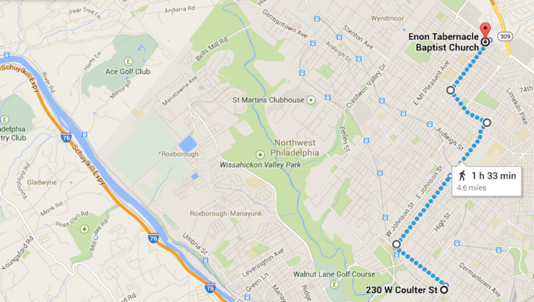 The Run/Walk route. (Image courtesy of Google Maps)