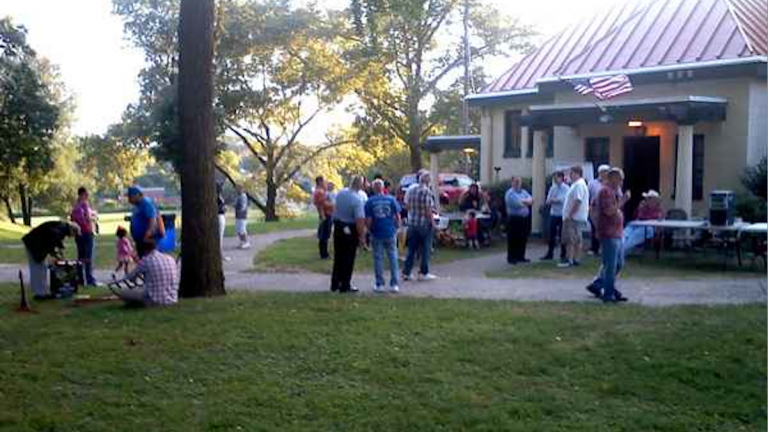 The 2013 National Night Out gathering in Roxborough's Gorgas Park. (NewsWorks, file art)