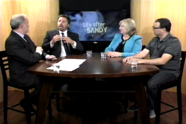 A screencap from the first hour-long program in Princeton Community Television's