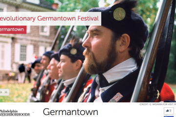 VisitPhilly's Germantown page went live in late August. (Image from VisitPhilly.com)