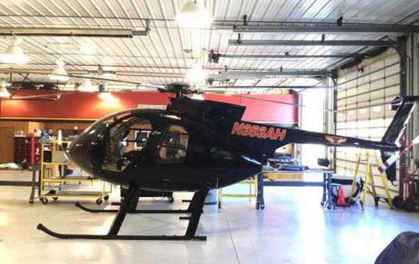 The helicopter that is being used for routine aerial inspection of JCP&L transmission lines. (Image: Haverfield)