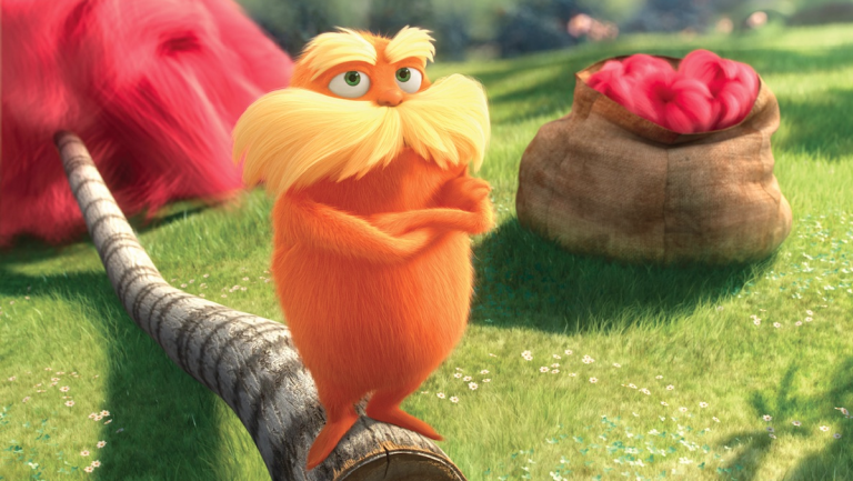 This image released by Universal Pictures shows The Lorax character, a creature who 'speaks for the trees' and fights rampant industrialism in a retelling of a Dr. Seuss children's book first published in 1971. (AP Photo/Universal Pictures)