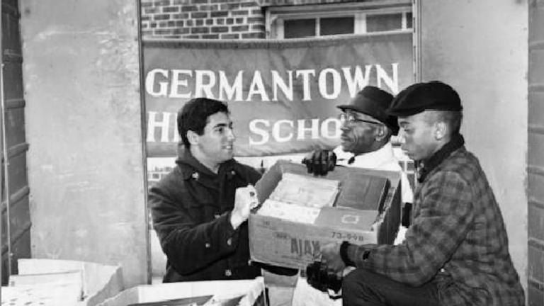 A shot from Germantown High School in 1963. (Image from Temple Urban Archive)