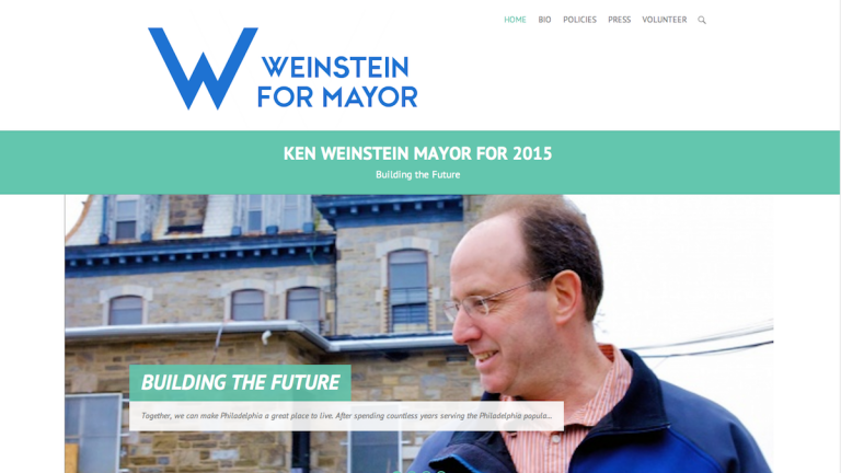 A screenshot of the Weinstein for Mayor website. (Courtesy of Weinsteinfor2015.org)