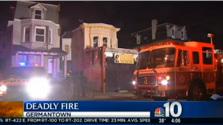 The fire brought out around 11 p.m. Sunday. (Image courtesy of NBC10)