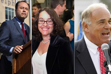 When Ken Trujillo (left) exited the mayoral race on Wednesday, his void was filled with speculation that Alba Martinez and Ed Rendell could enter. (NewsWorks File Photo)
