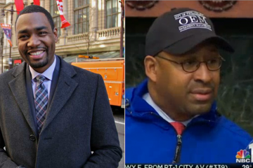 As Mayor Michael Nutter's former spokesman, mayoral candidate Doug Oliver (left) has some insight into behind-the-scenes snowstorm preparations. (NewsWorks file art, NBC10 screengrab via Billy Penn)